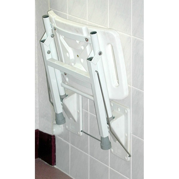 Elgin Wall Mounted Shower Seat with support legs - ASM Medicare