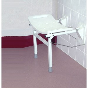 Elgin Wall Mounted Shower Seat With Support Legs Asm
