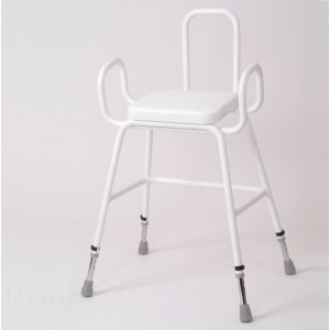 Wren Perching Stool with Arms & Backrest