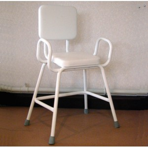 Wren Perching Stool with Arms & Padded Backrest